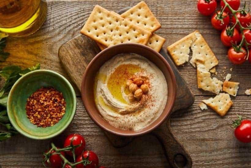 Spicy Organic Hummus Dip   kimschob.com