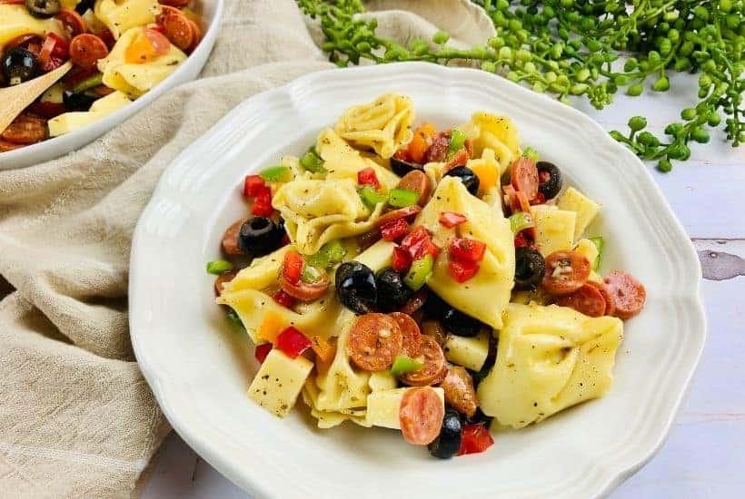 cold pasta salad with tortellini