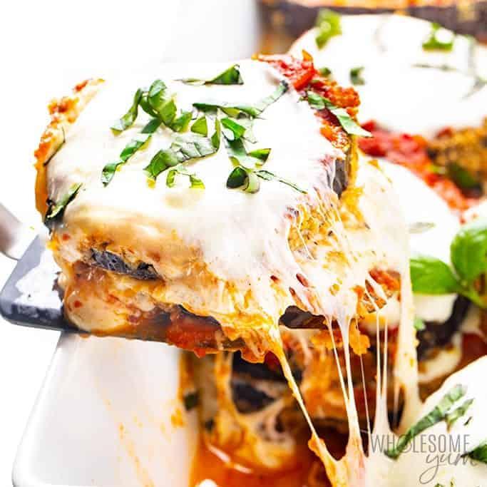 wholesomeyum healthy keto eggplant parmesan recipe 38 • Kim Schob
