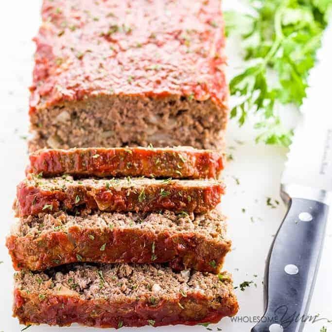 wholesomeyum low carb meatloaf paleo gluten free 8 • Kim Schob